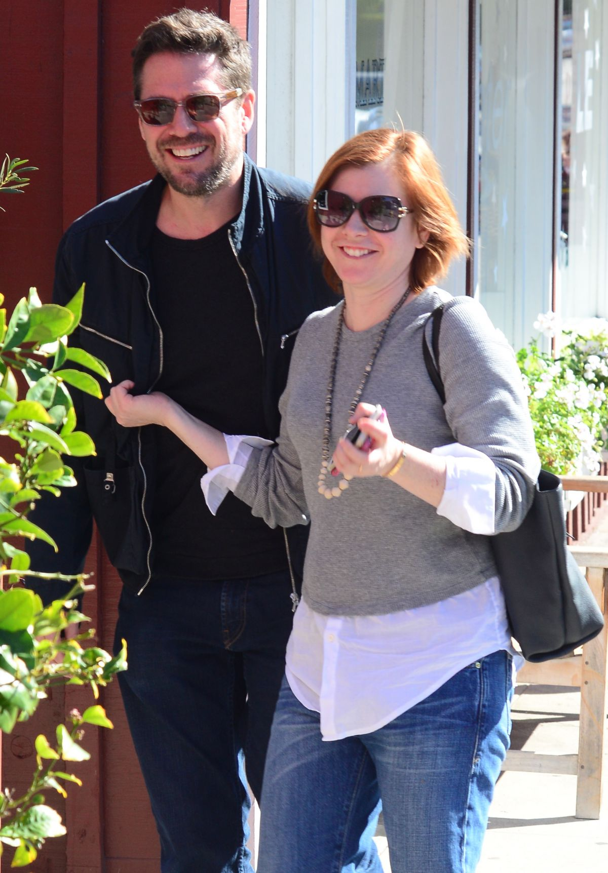 ALYSON HANNIGAN Leaves Caffe Luxxe in Brentwood 01/25/2016