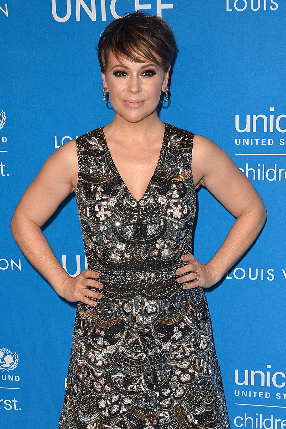 ALYSSA MILANO at 6th Biennial Unicef Ball in Beverly Hills 01/12/2016