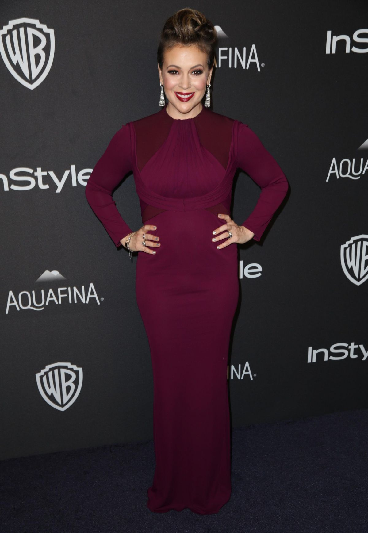 ALYSSA MILANO at Instyle and Warner Bros. 2016 Golden Globe Awards Post-party in Beverly Hills 01/10/2016