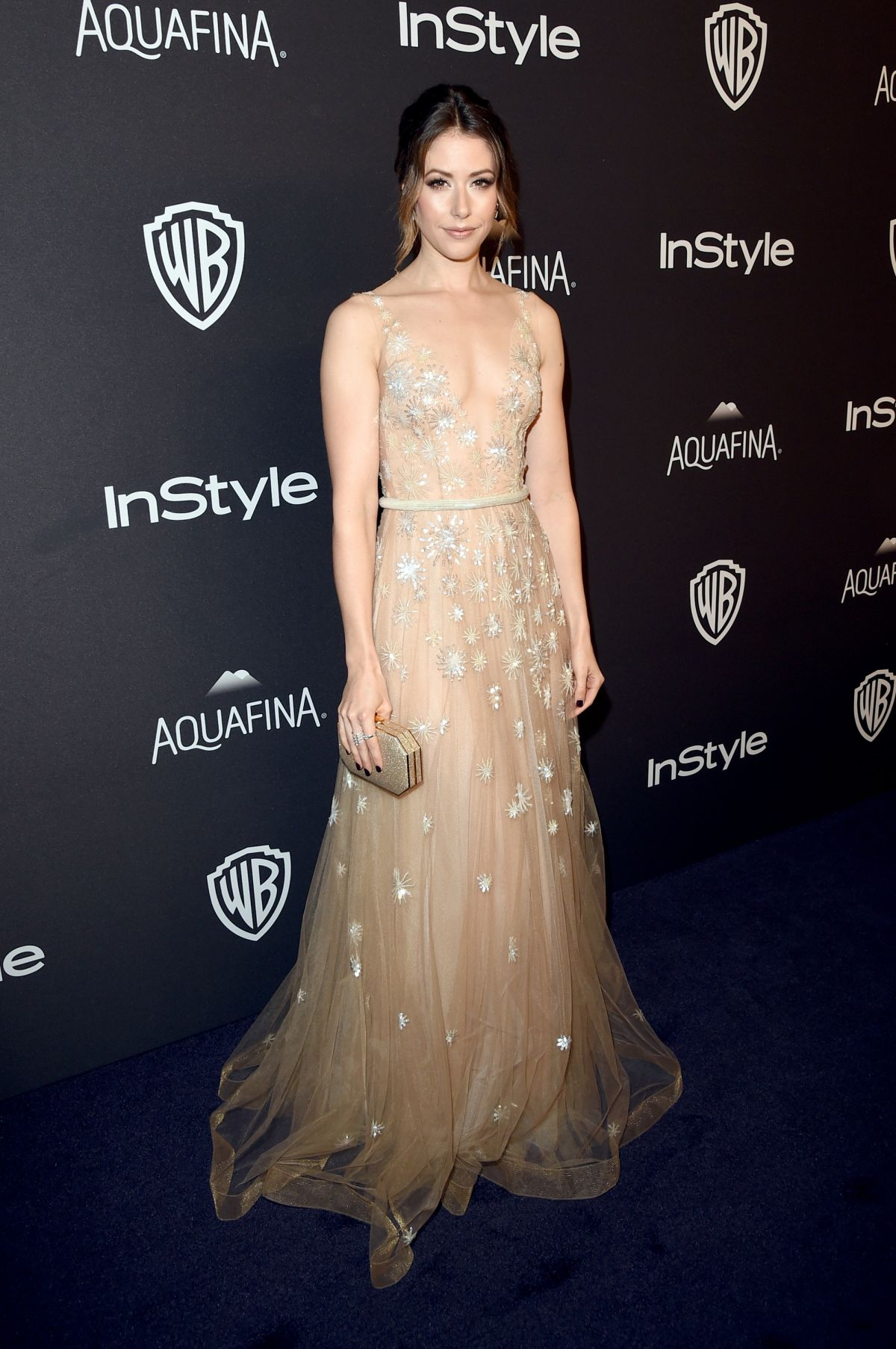 AMANDA CREW at Instyle and Warner Bros. 2016 Golden Globe Awards Post-party in Beverly Hills 01/10/2016