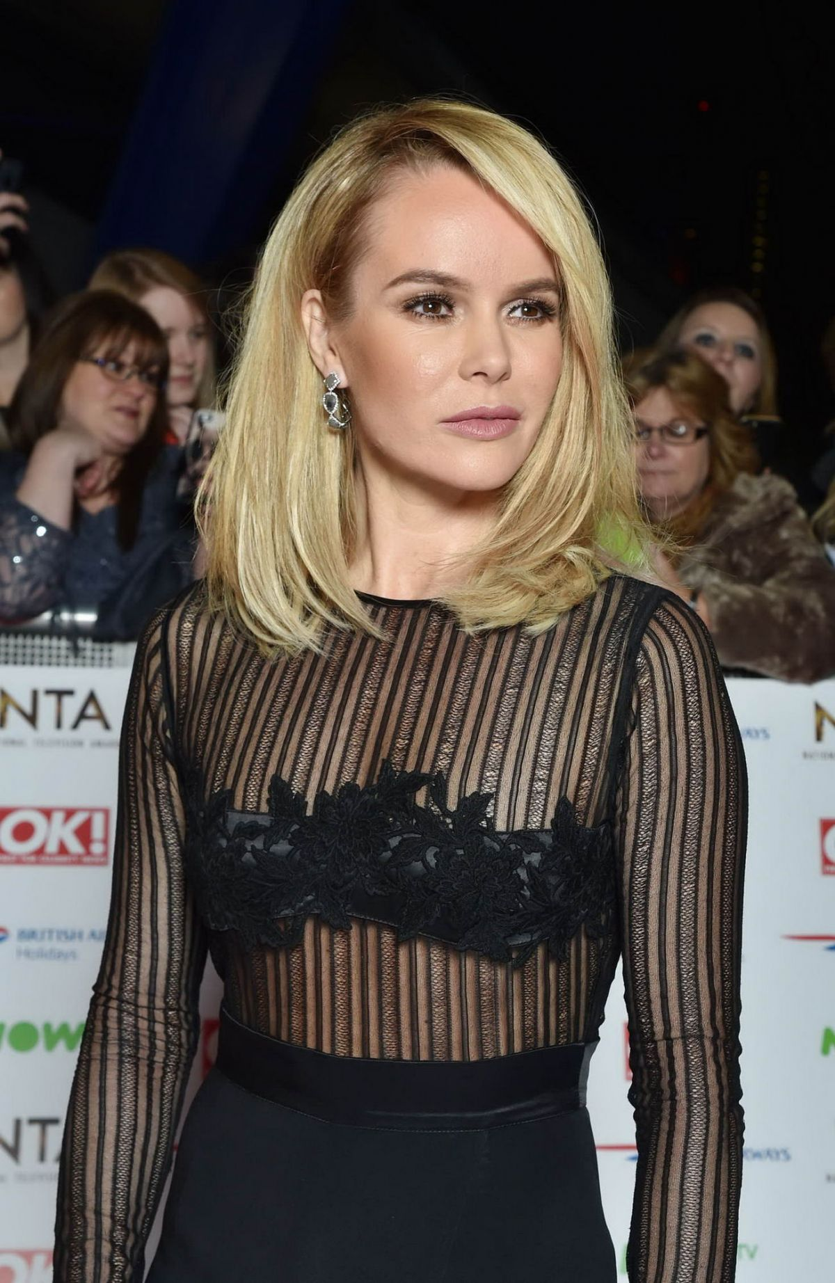 AMANDA HOLDEN at 2016 National Television Awards in London 01/20/2016