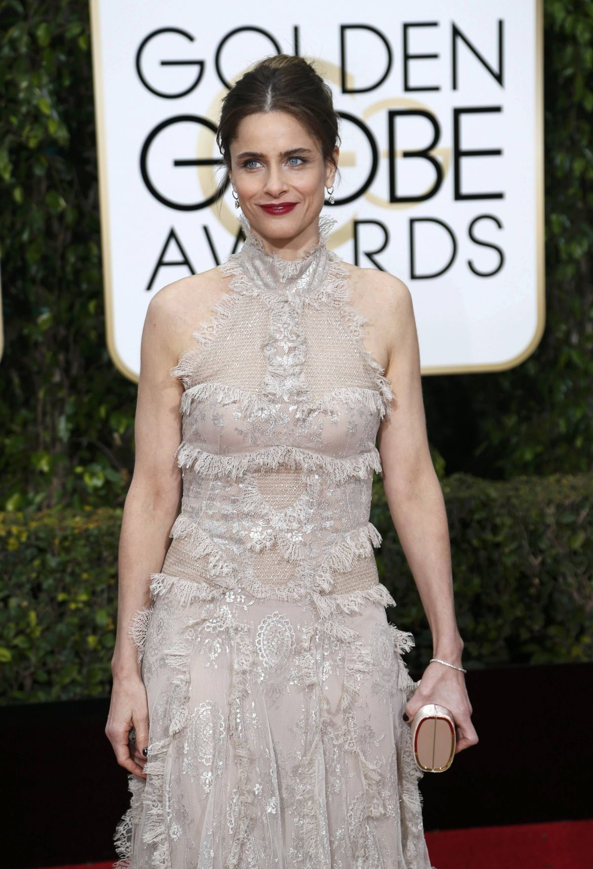AMANDA PEET at 73rd Annual Golden Globe Awards in Beverly Hills 10/01/2016