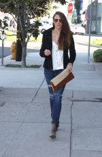 AMANDA RIGHETTI Out and About in Los Angeles 01/26/2016