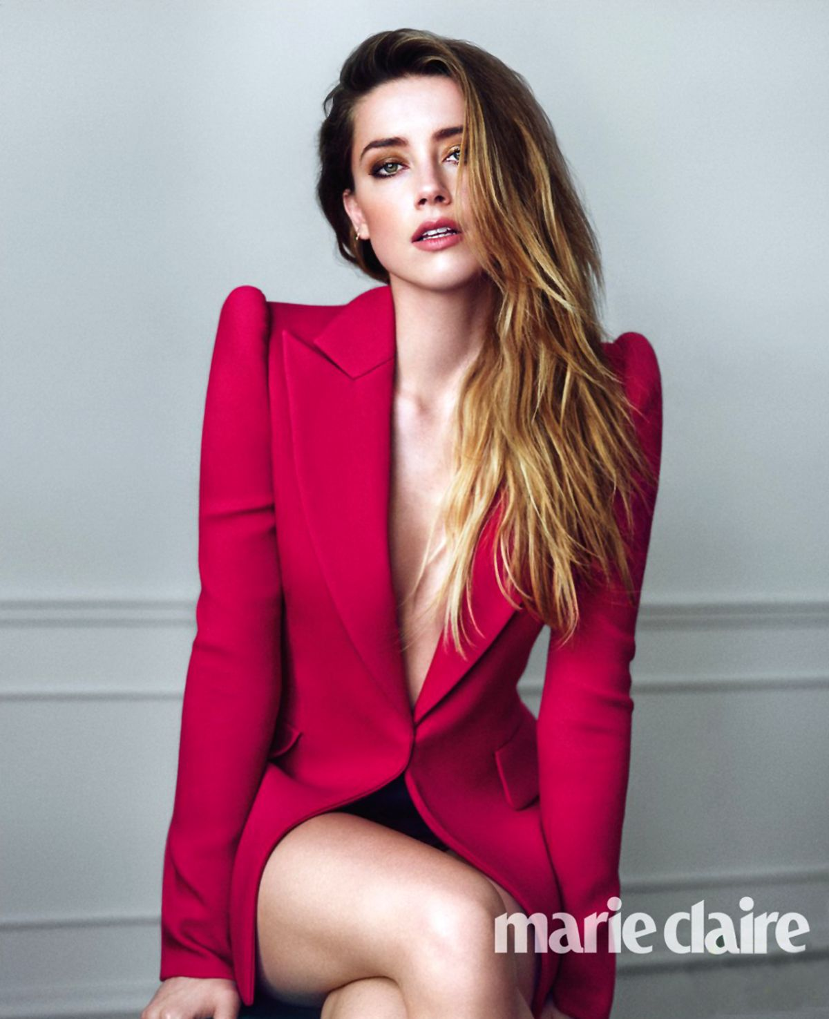 amber heard in marie claire magazine december 2015 issue hawtcelebs. Black Bedroom Furniture Sets. Home Design Ideas