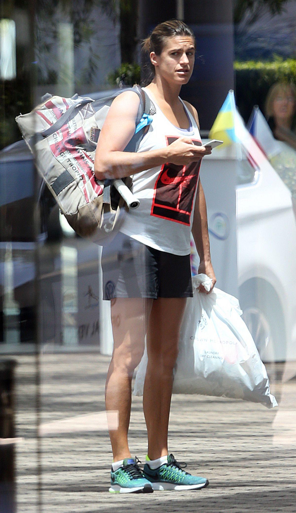 AMELIE MAURESMO Leaves Crown Perth 01 05 2016 HawtCelebs