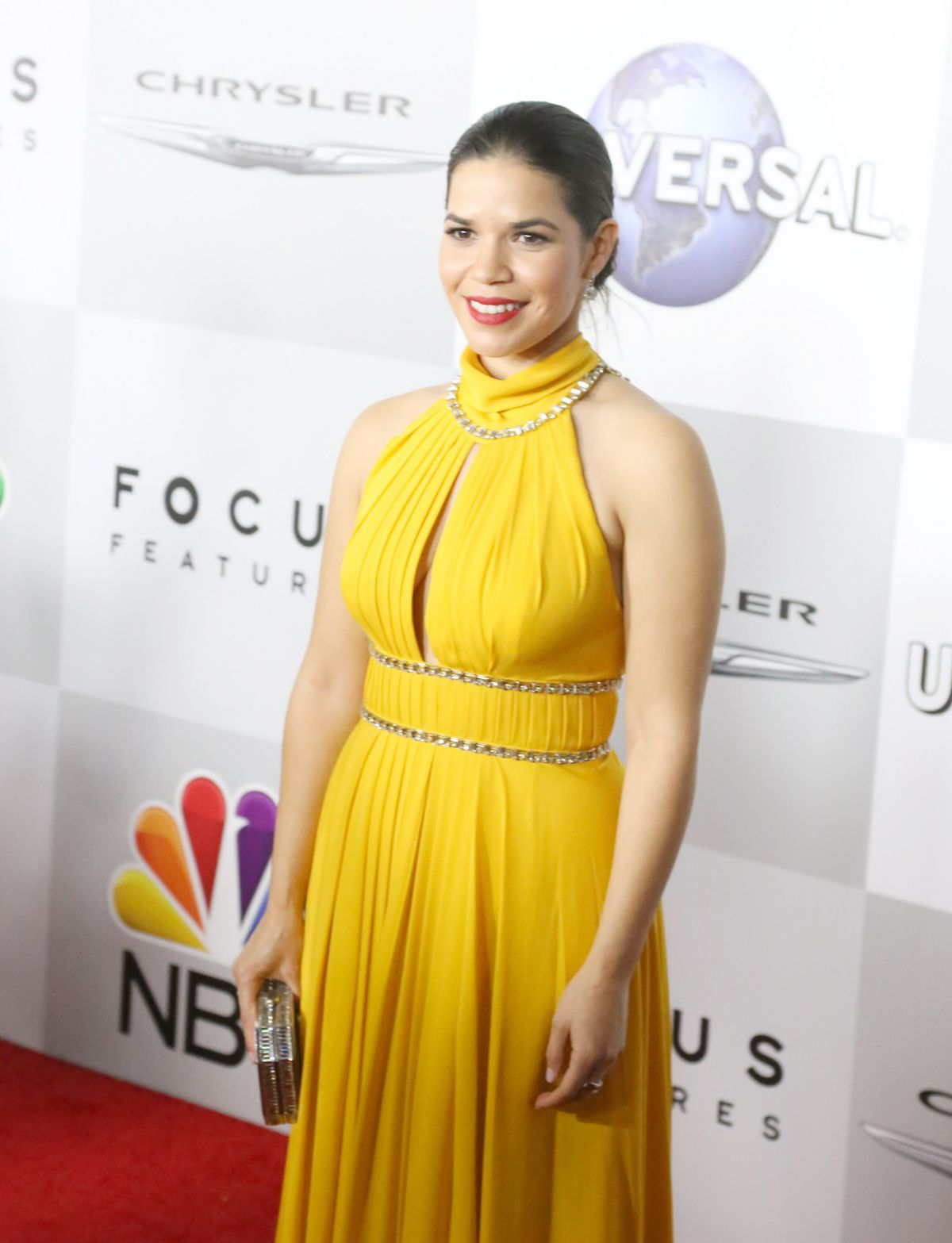 AMERICA FERRERA at NBC/Universal Golden Globes After Party in Beverly Hills 01/10/2016