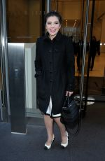 ANA GOLJA Leaves SiriusXM Studio in New York 01/13/2016