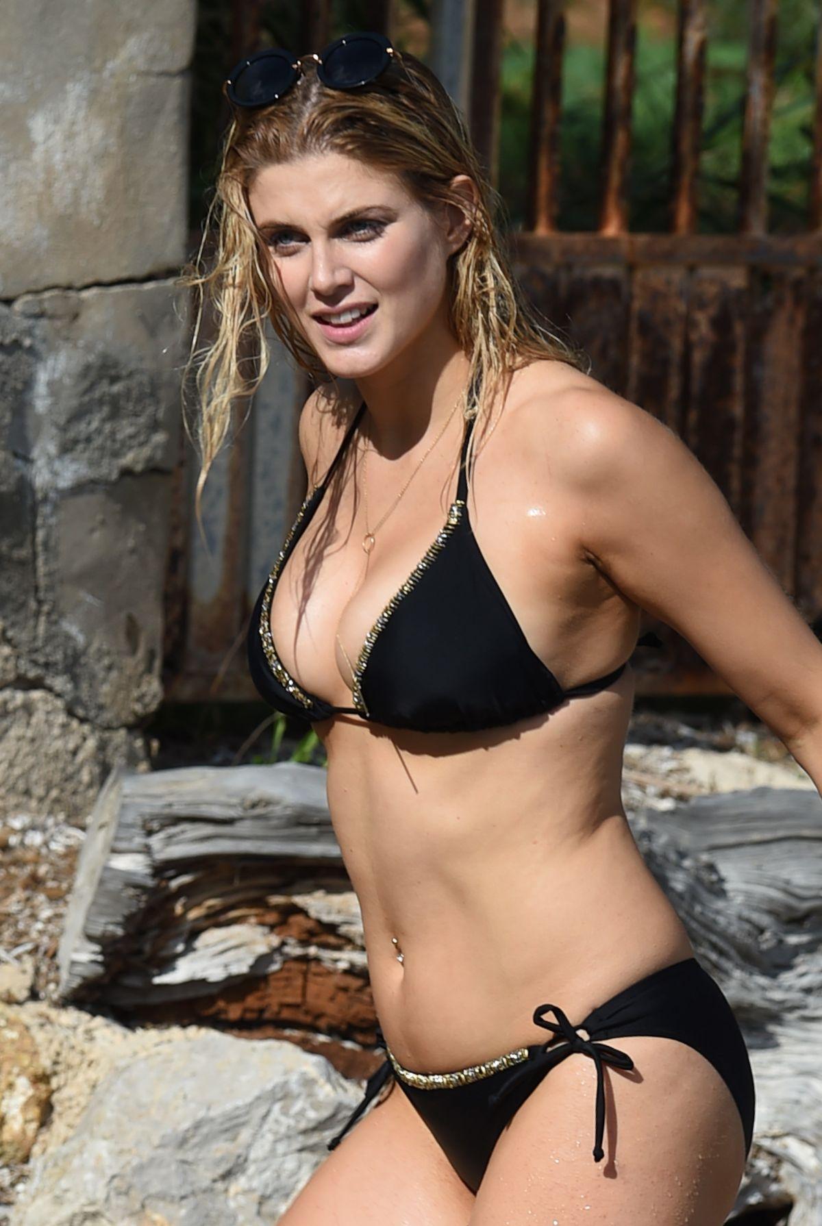 ASHLEY JAMES in Bikini at a Beach in Bali 12/31/2015