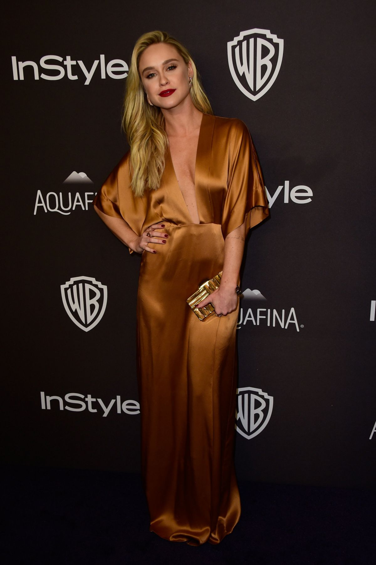 BECCA TOBIN at Instyle and Warner Bros. 2016 Golden Globe Awards Post-party in Beverly Hills 01/10/2016