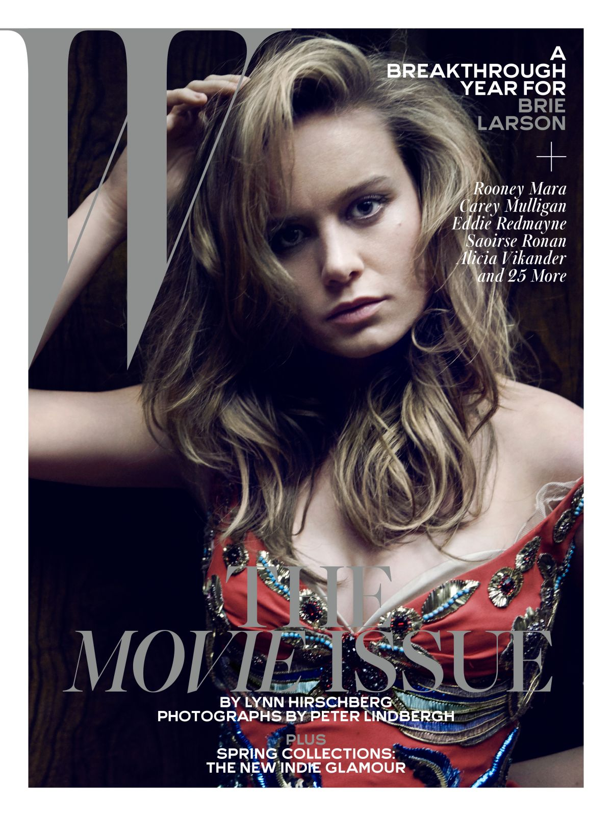 BRIE LARSON in W Magazine, February 2016 Issue