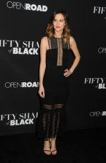 BRIT SHAW at Fifty Shades of Black Premiere in Los Angeles 01/26/2016