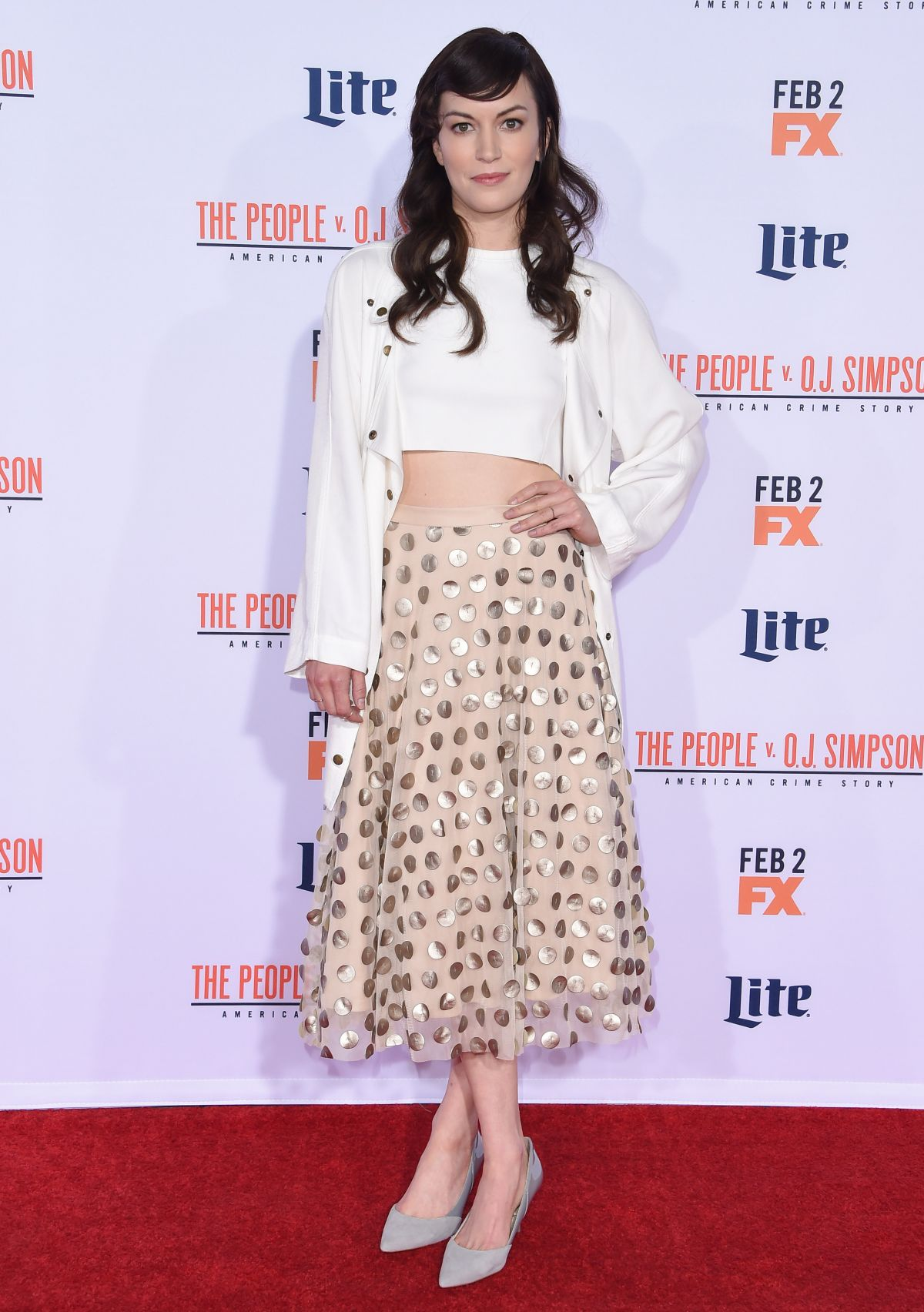 BRITT LOWER at American Crime Story: The People V.O.J. Simpson Premiere 01/27/2016