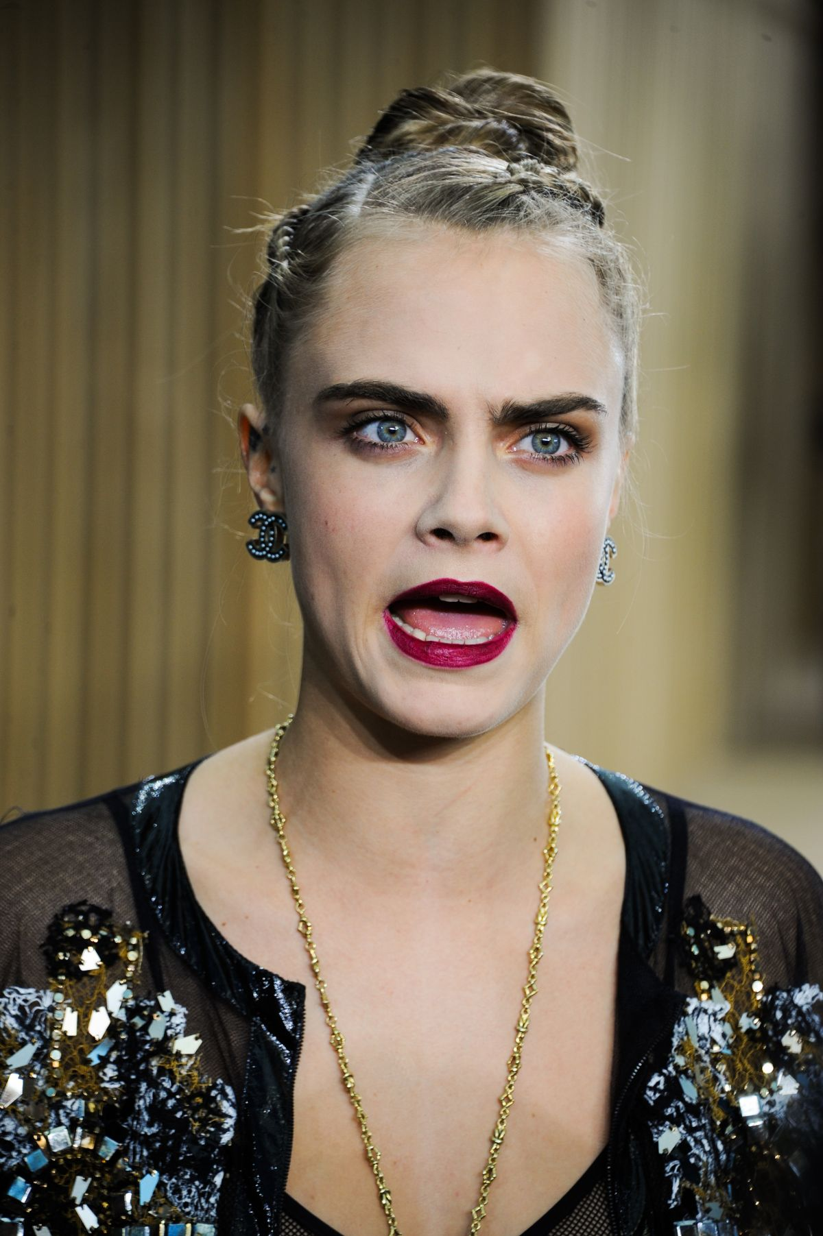 CARA DELEVINGNE at Chanel Haute Couture Spring/Summer 2016 ...