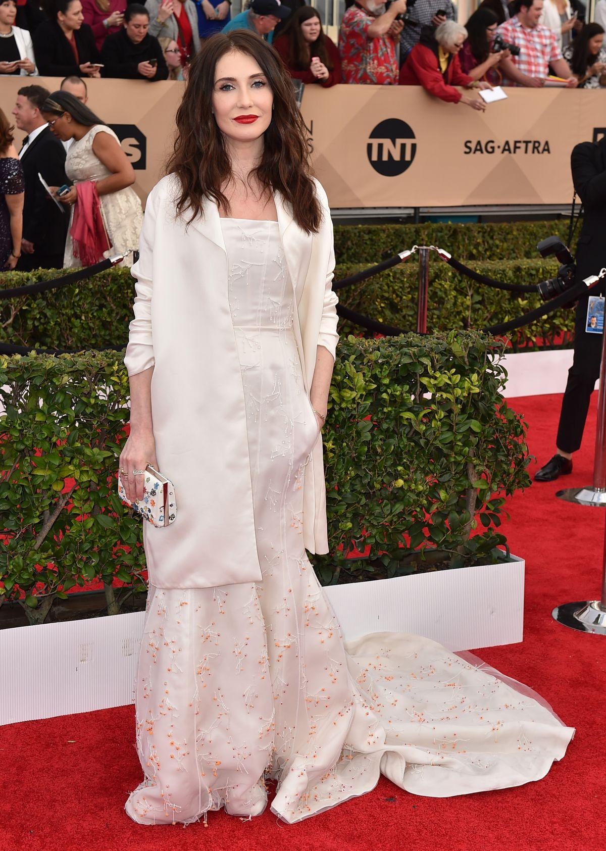 CARICE VAN HOUTEN at Screen Actors Guild Awards 2016 in Los Angeles 01/30/2016
