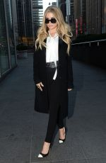 CARMEN ELECTRA Arrives at Fox & Friends in New York 01/08/2016