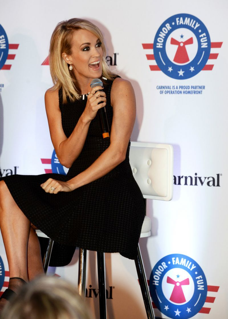 Strange Carrie Underwood Announces Her Partnership With Carnival Cruise Short Hairstyles For Black Women Fulllsitofus