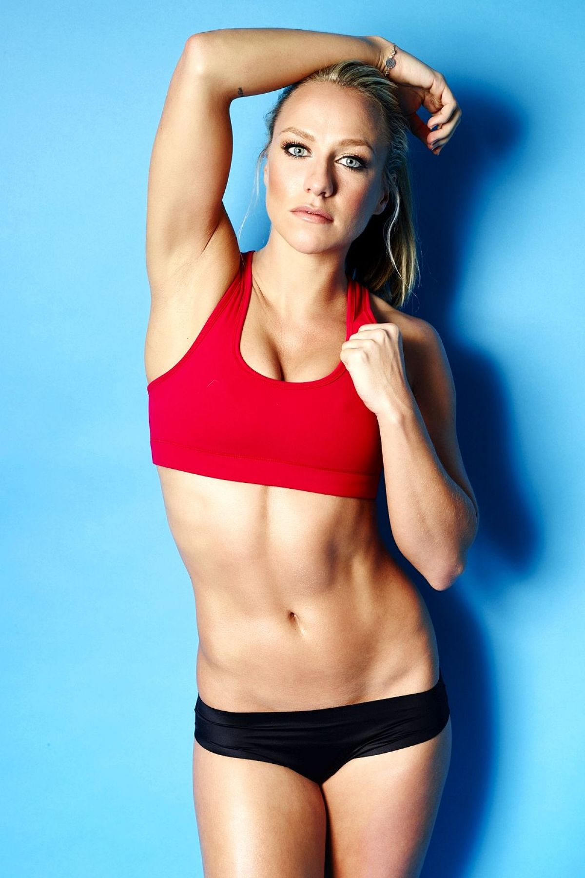 CHLOE MADELEY on the Set of a Workout Photoshoot