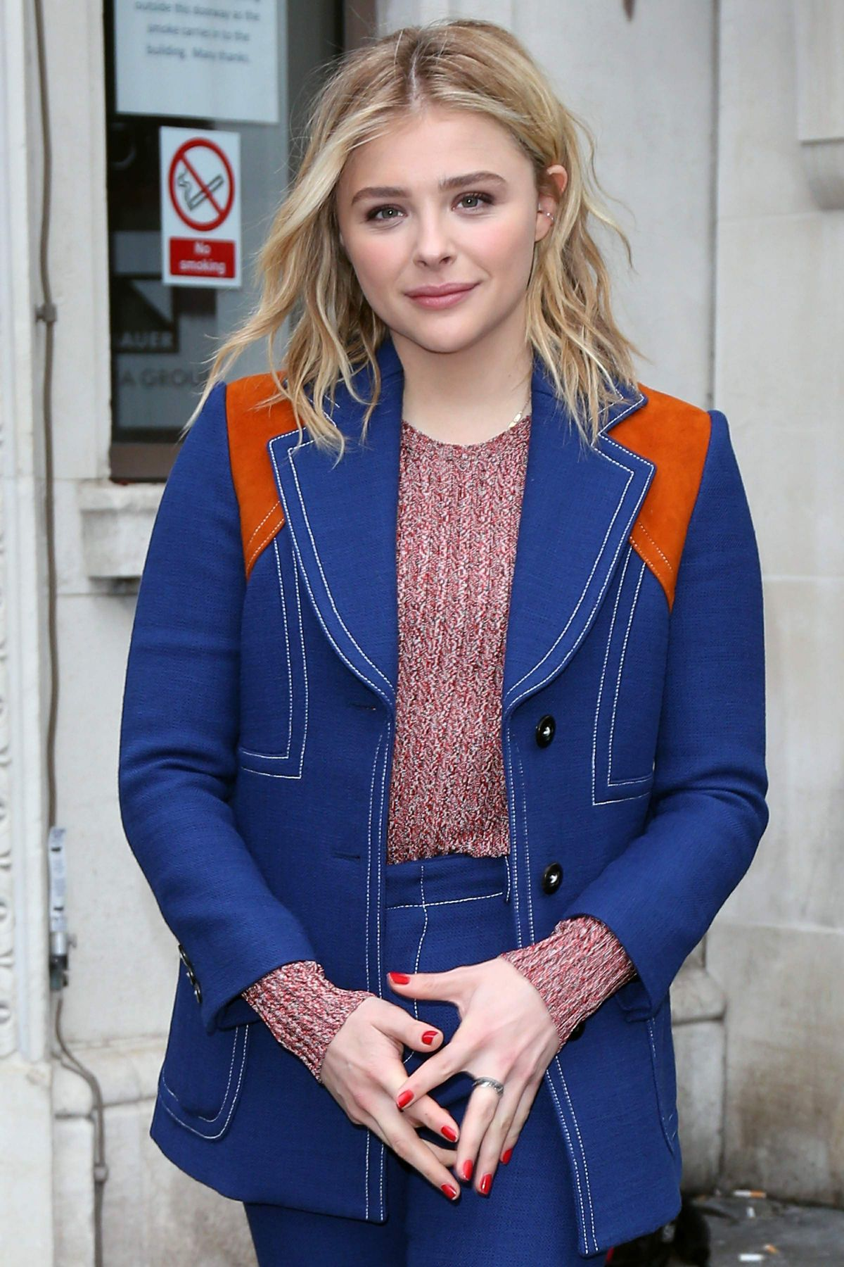 CHLOE MORETZ at The Bauer Media Radio Studios in London 01/21/2016
