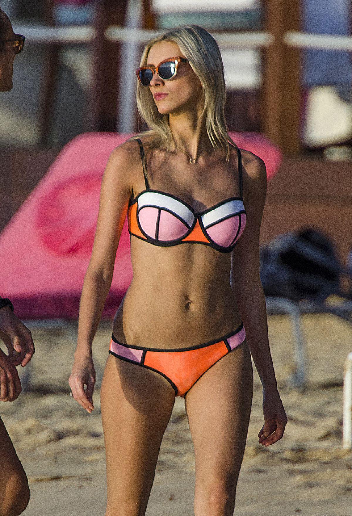 CHLOE ROBERTS in Bikini on the Beach in Barbados 01/12/2016