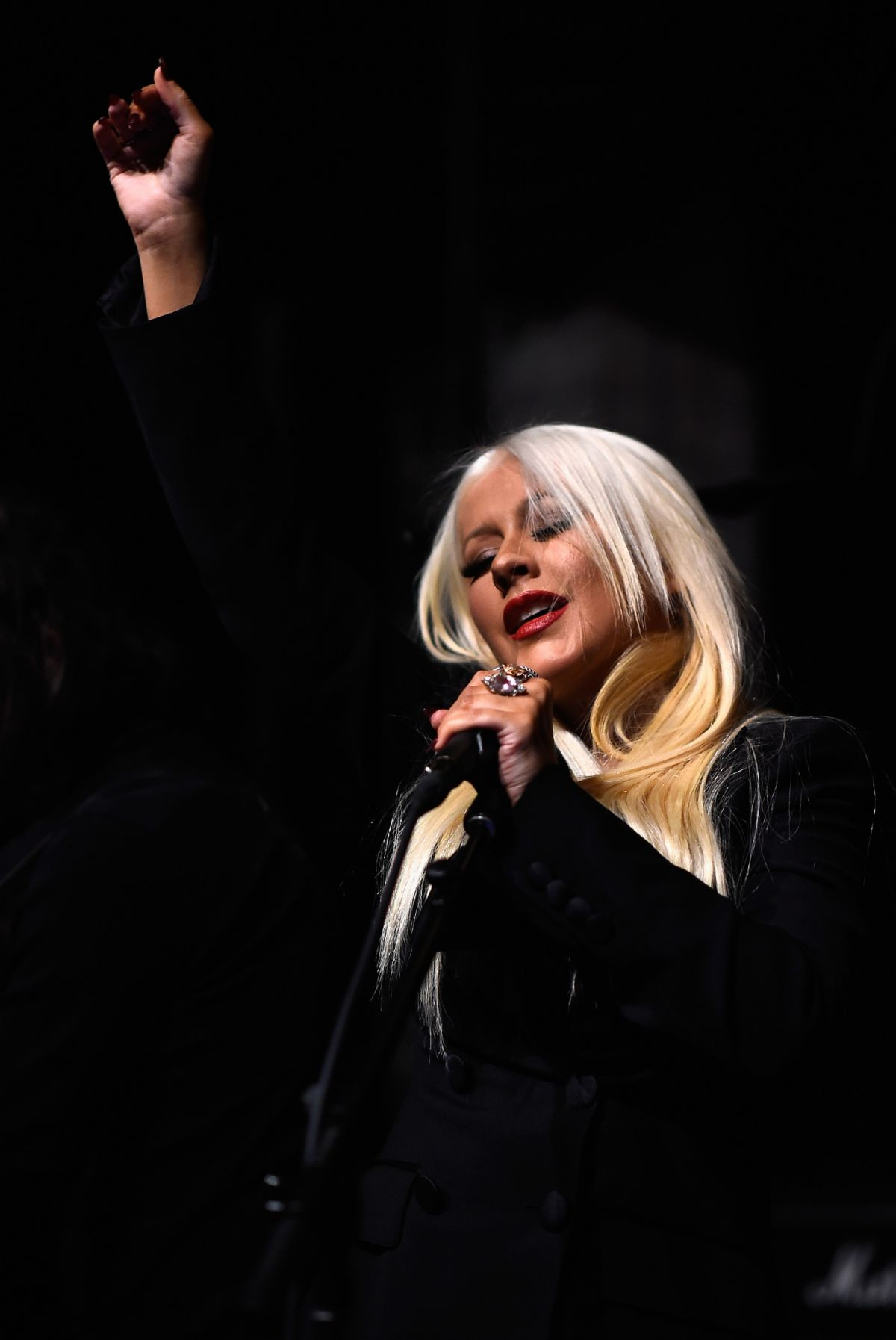 CHRISTINA AGUILERA at Hands of Love Song Celebration in Los Angeles 01/05/2016