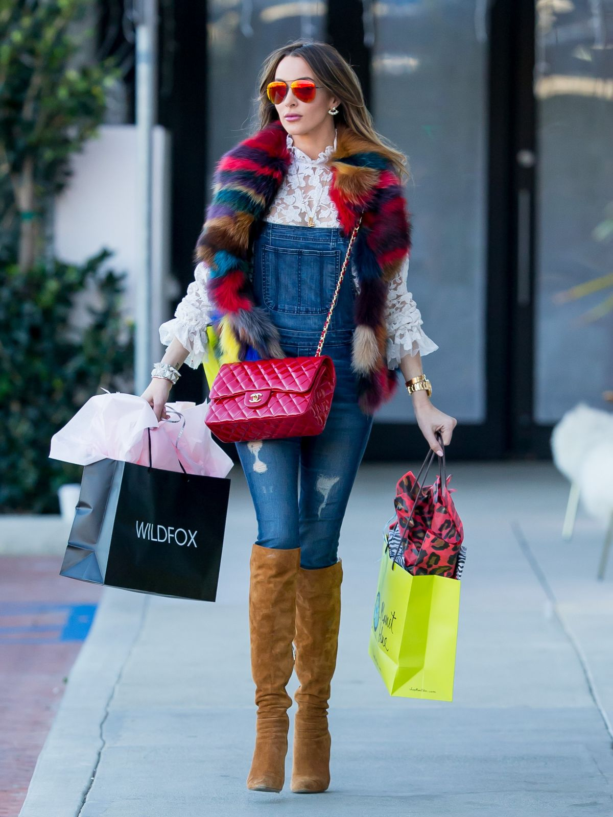 COURTNEY SIXX Out Shopping in Los Angeles 12/27/2015