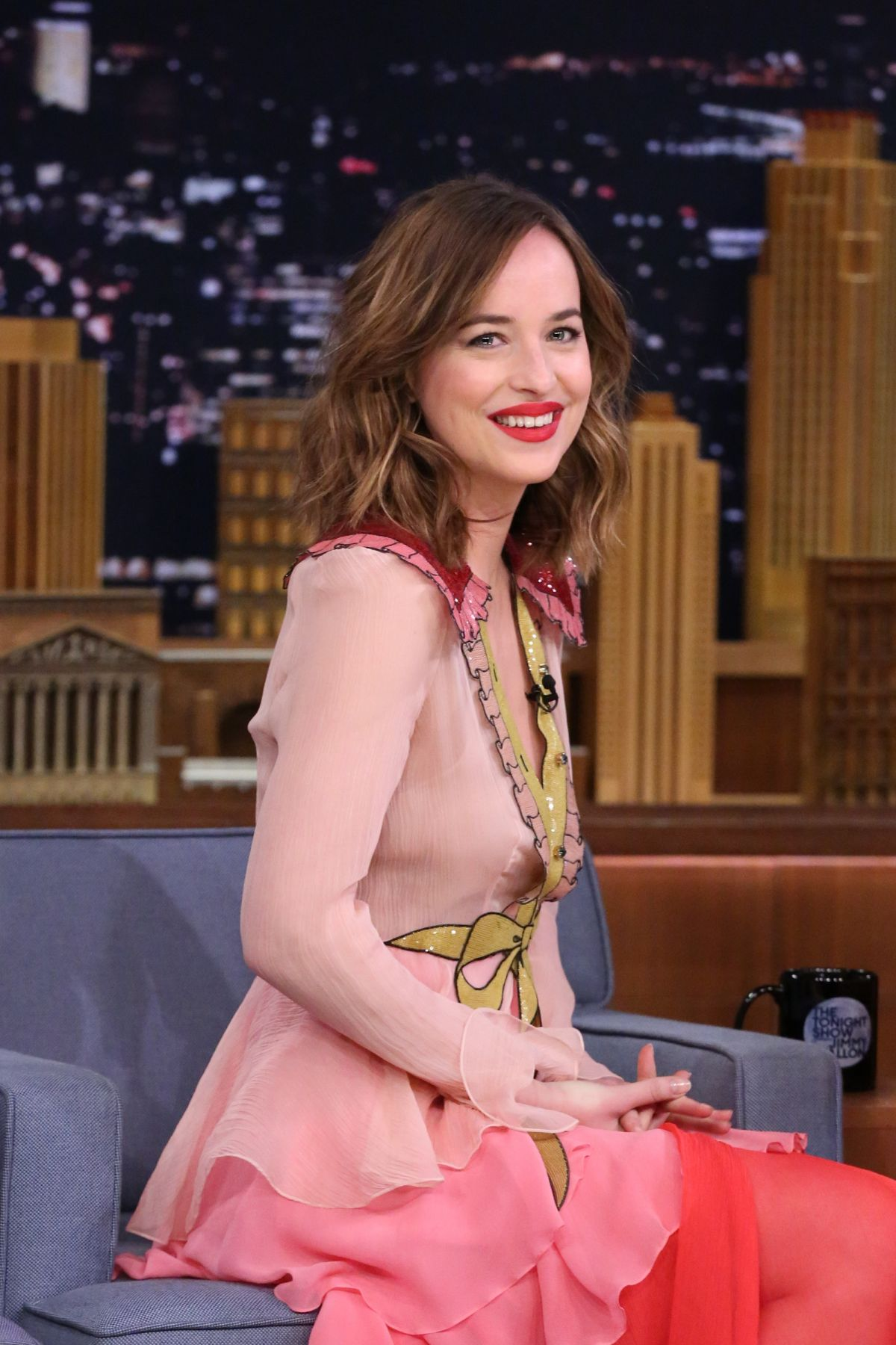 DAKOTA JOHNSON at Tonight Show Starring Jimmy Fallon in New York 01/20/2016