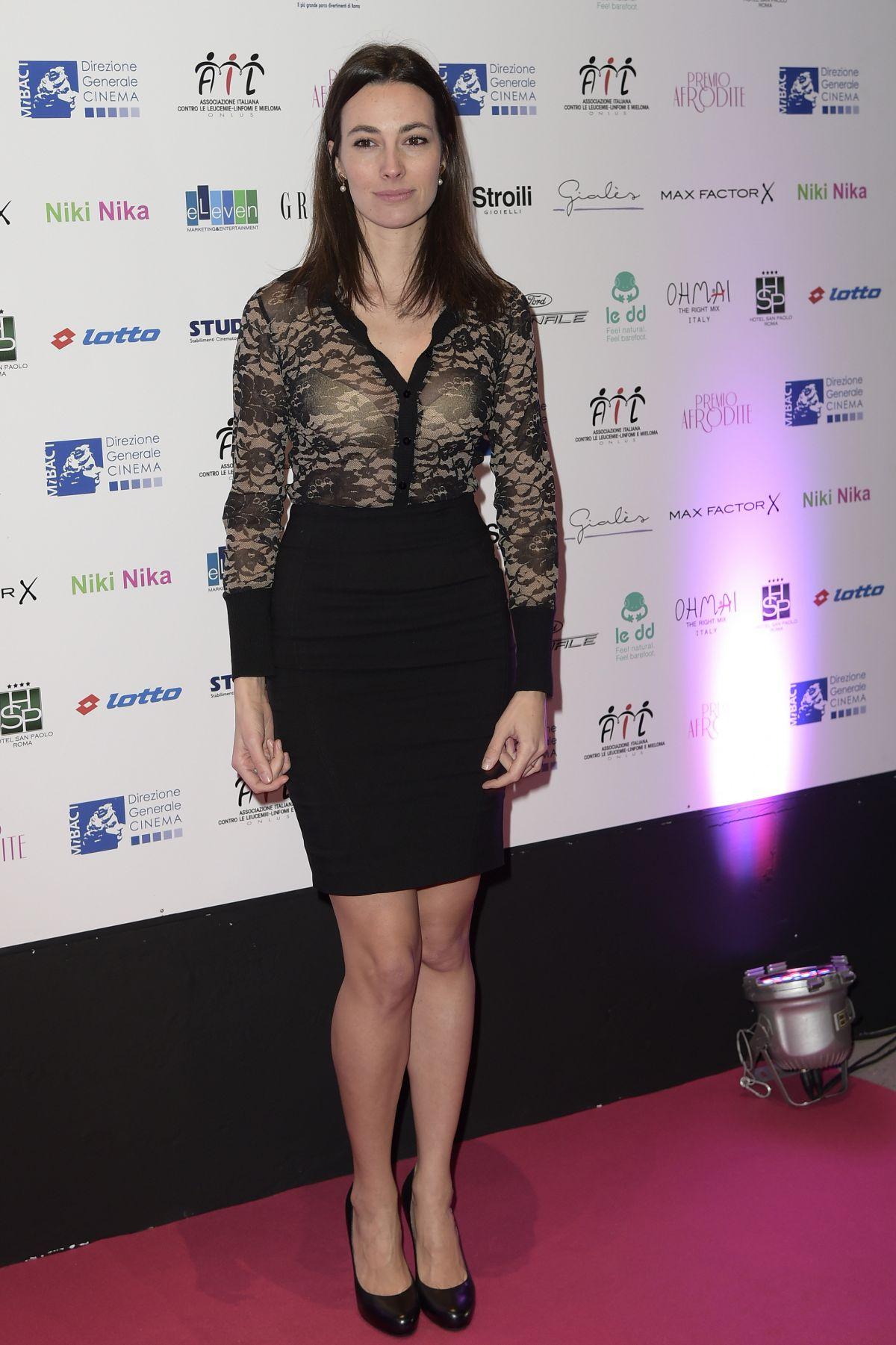 DANIELA VIRGILIO at Premio Afrodite in Rome 01/13/2016