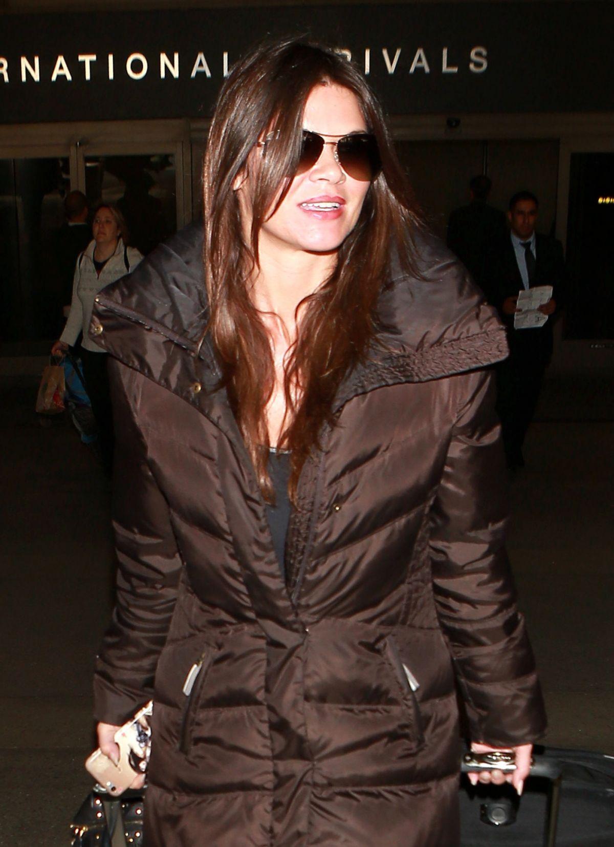 DANIELLE VASINOVA at LAX Airport in Los Angeles 01/08/2016
