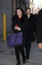 DEBI MAZAR Leaves AOL Studio in New York 01/28/2016