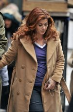 DEBRA MESSING on the Set of The Mysteries of Laura in Brooklyn, 01/29/2016