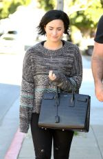 DEMI LOVATO Out and About in Los Angeles 01/26/2016