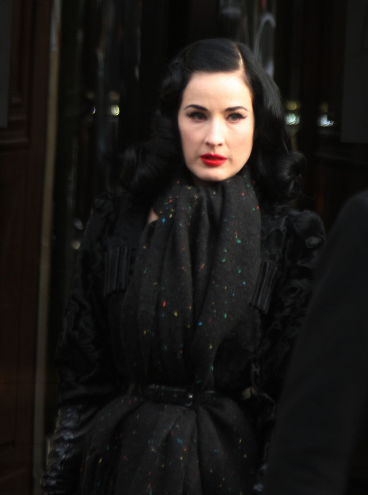 DITA VON TEESE Out and About in Paris 01/13/2016 - HawtCelebs ... Dita Von Teese