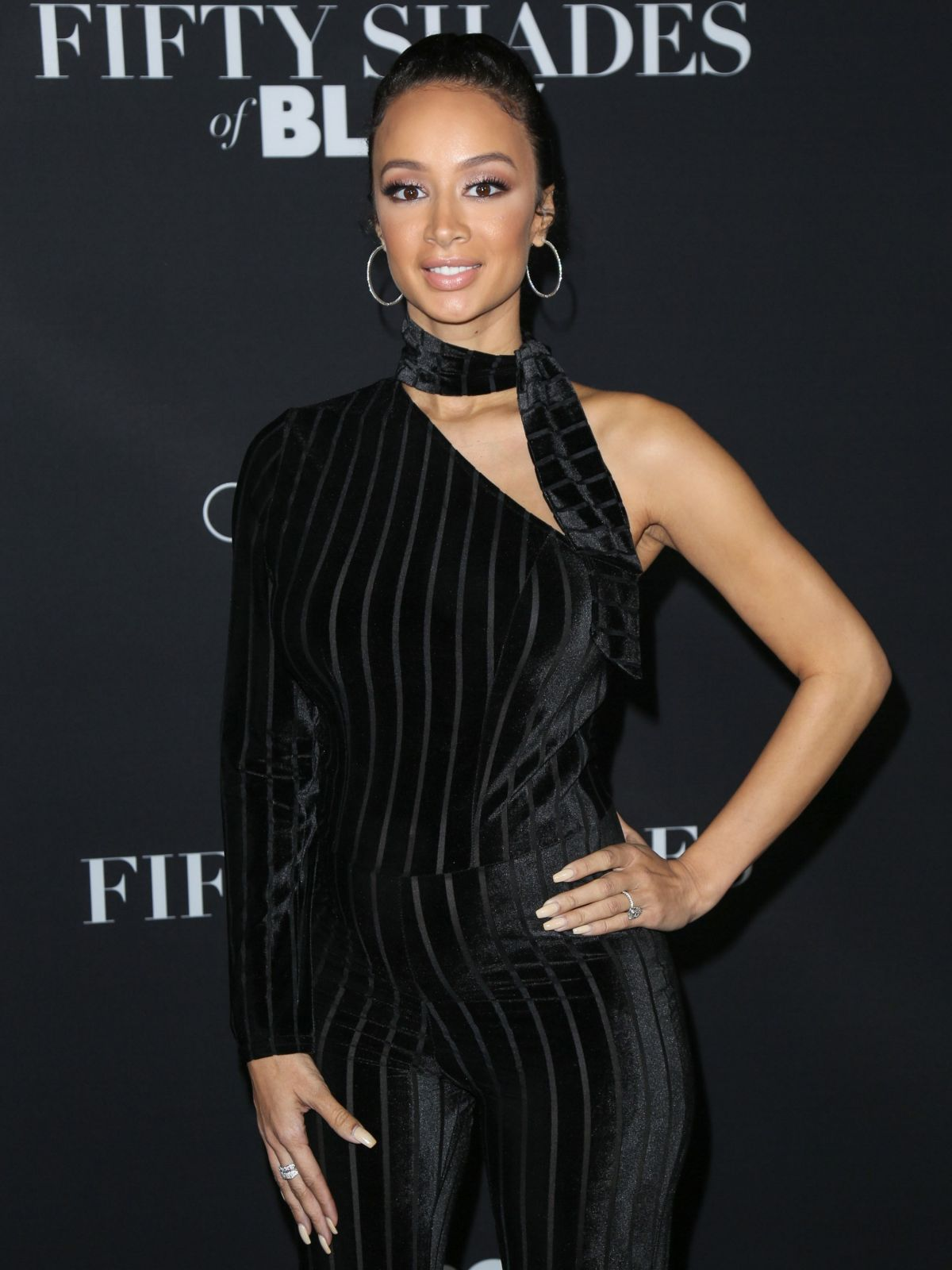 Draya michele hawtcelebs draya michele at fifty shades of black premiere in los angeles 01262016 voltagebd Images