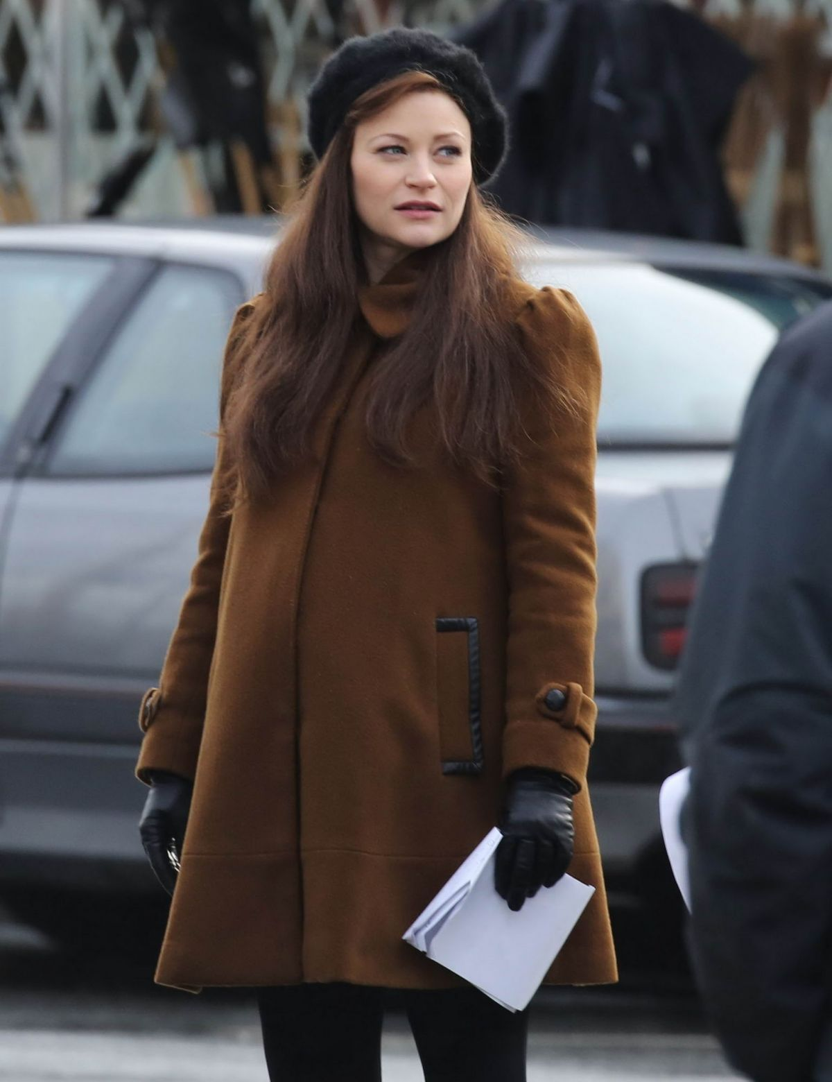 EMILIE DE RAVIN on the Set of Once Upon A Time in Vancouver 01/19/2016