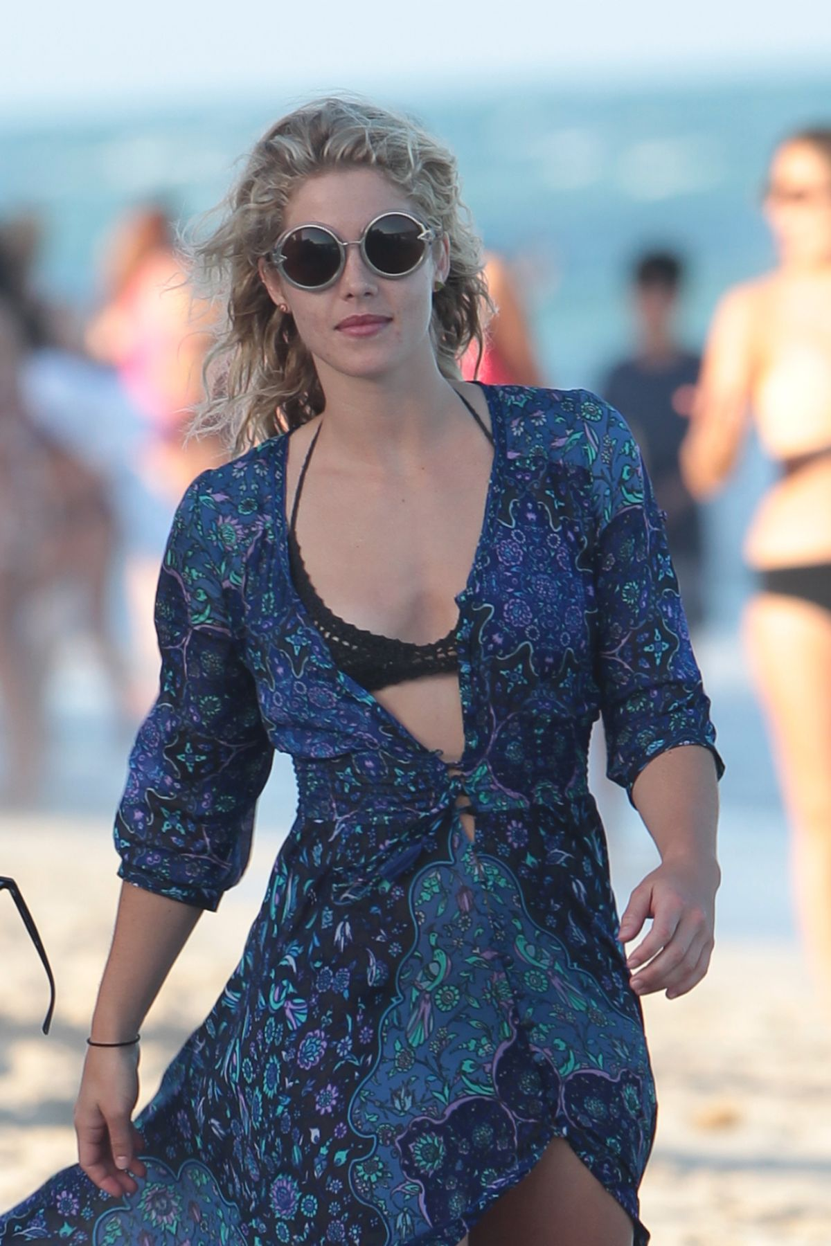 EMILY BETT RICKARDS at a Beach in Miami 12/31/2015