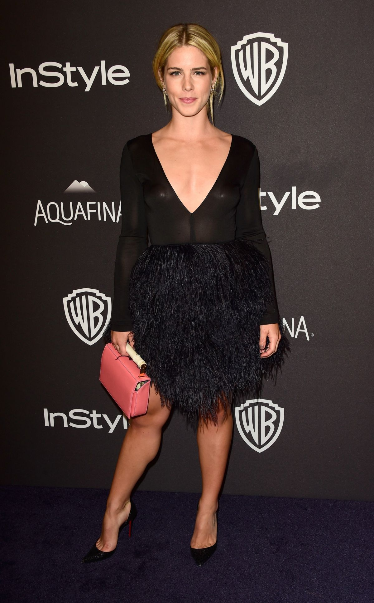 EMILY BETT RICKARDS at Instyle and Warner Bros. 2016 Golden Globe Awards Post-party in Beverly Hills 01/10/2016