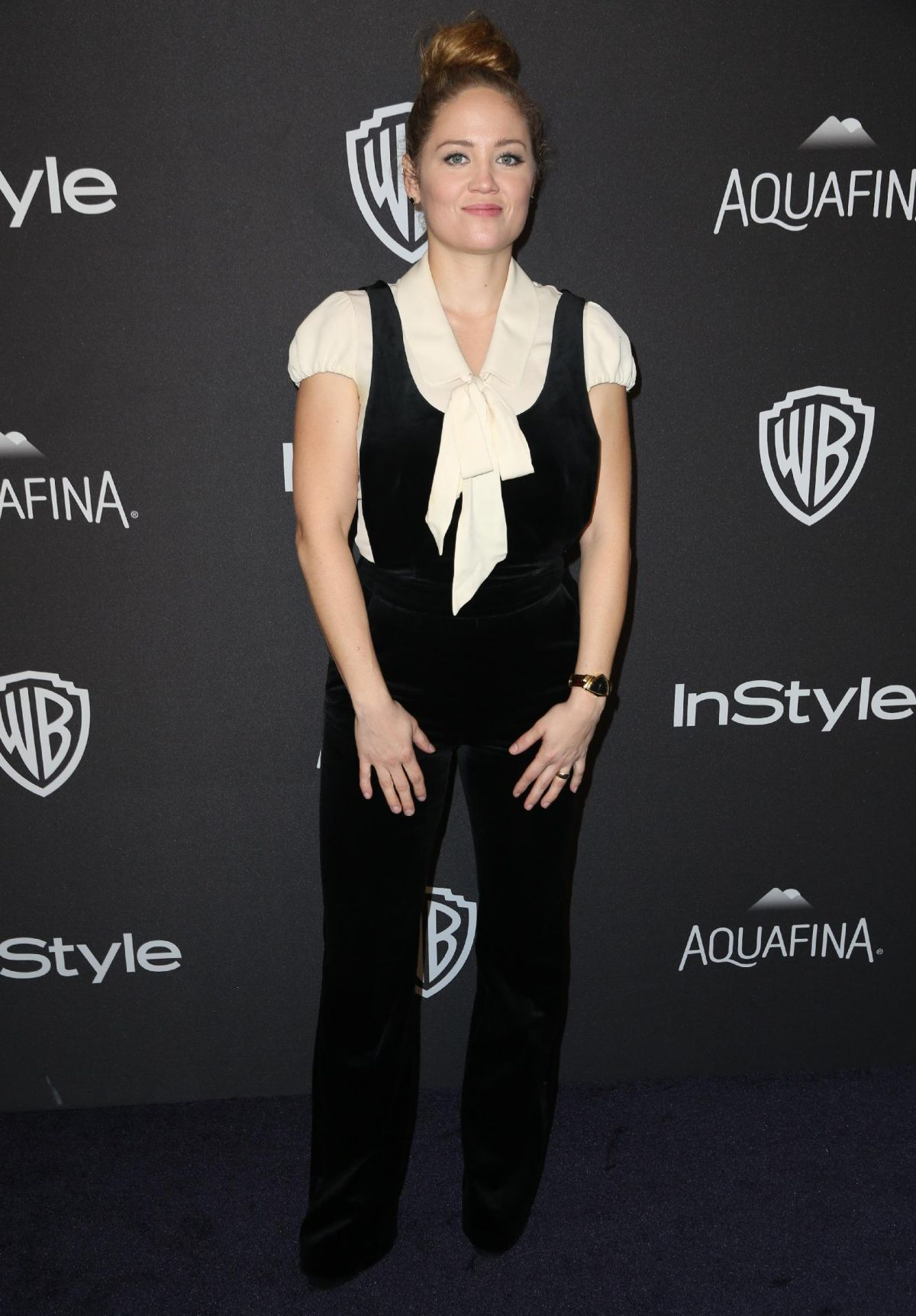 ERIKA CHRISTENSEN at Instyle and Warner Bros. 2016 Golden Globe Awards Post-party in Beverly Hills 01/10/2016