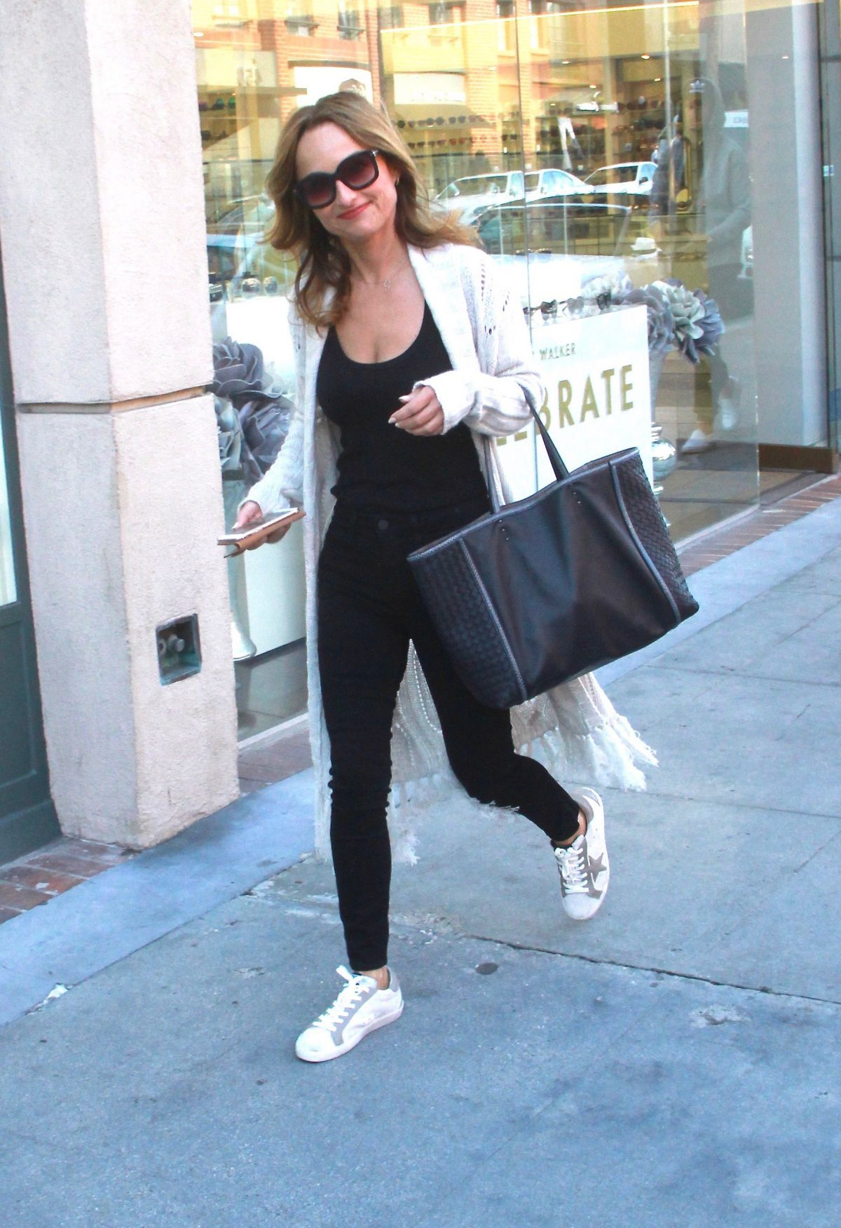 GIADA DE LAURENTIIS Out Shopping in Beverly Hills 01/04/2016