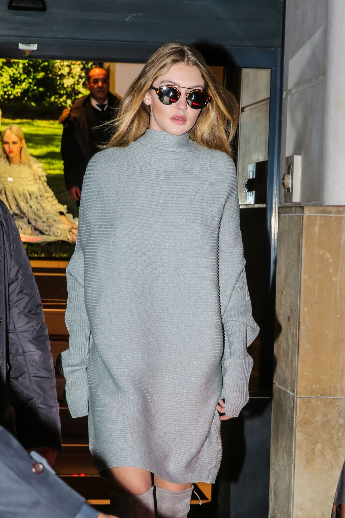 GIGI HADID Shopping at a Chanel Store in Paris 01/25/2016