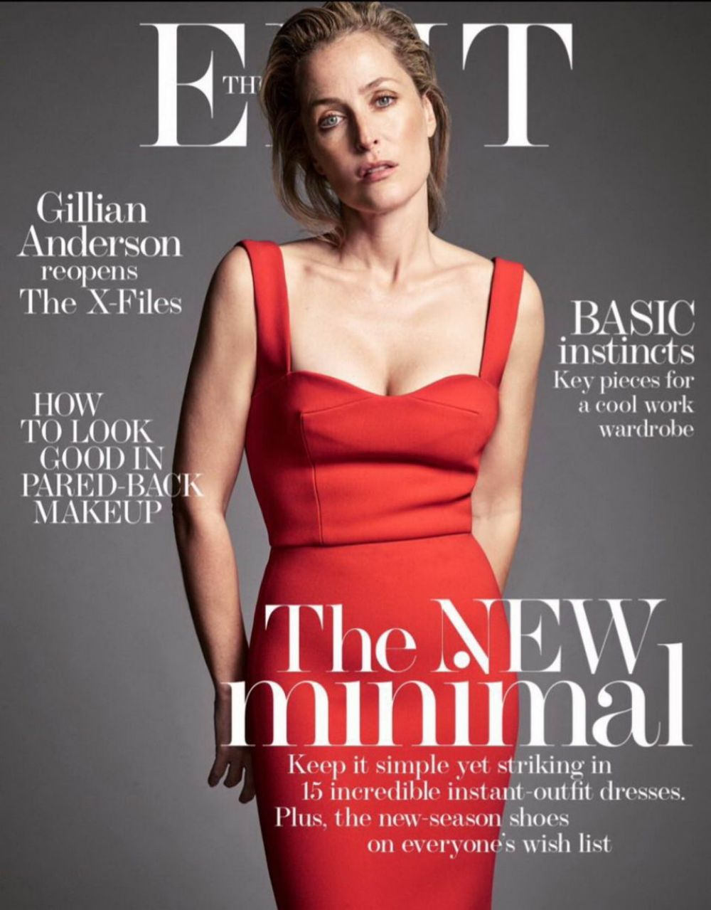 GILLIAN ANDERSON in Edit Magazine, January 2016 Issue