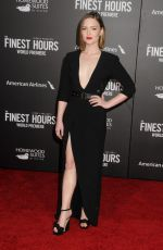 HOLLIDAY GRAINGER at The Finest Hours Premiere in Los Angeles 01/25/2016