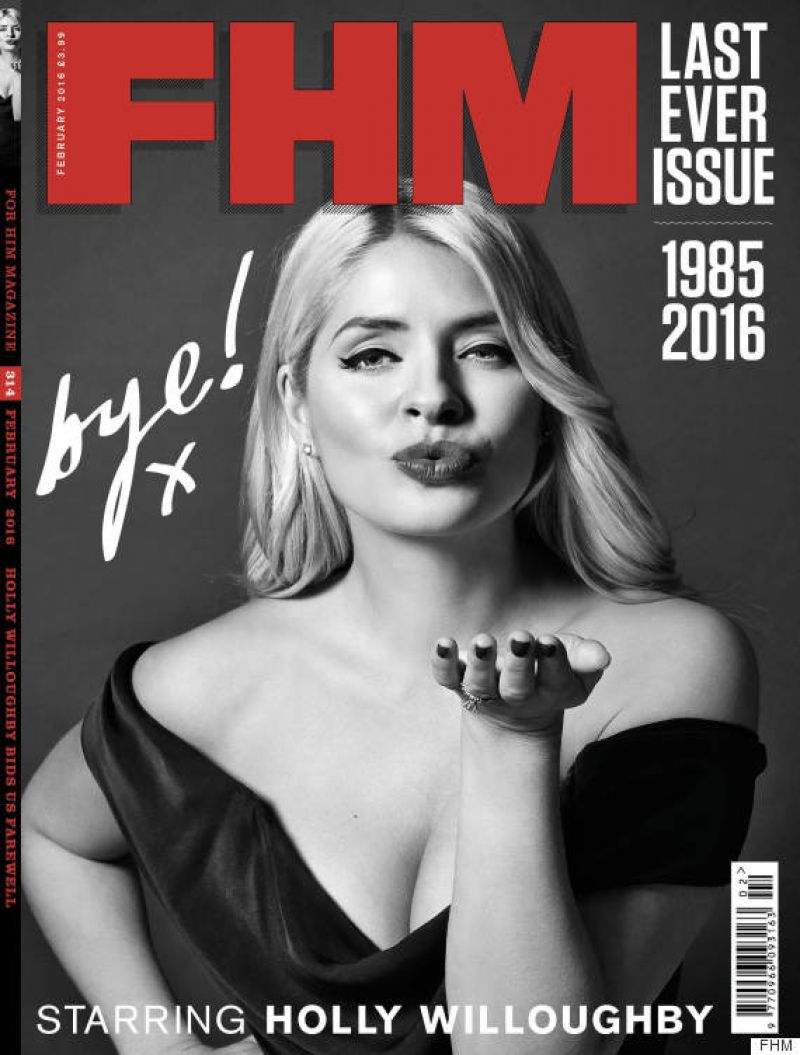 HOLLY WILLOUGHBY in FHM Magazine, February 2016 Issue