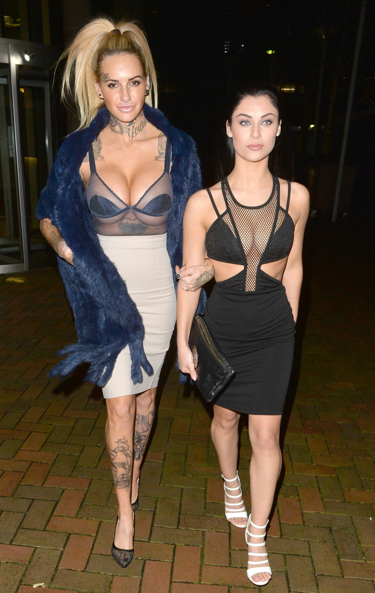 JEMMA LUCY and CALLY BEECH Leave Zuma Nightclub in London 01/27/2016