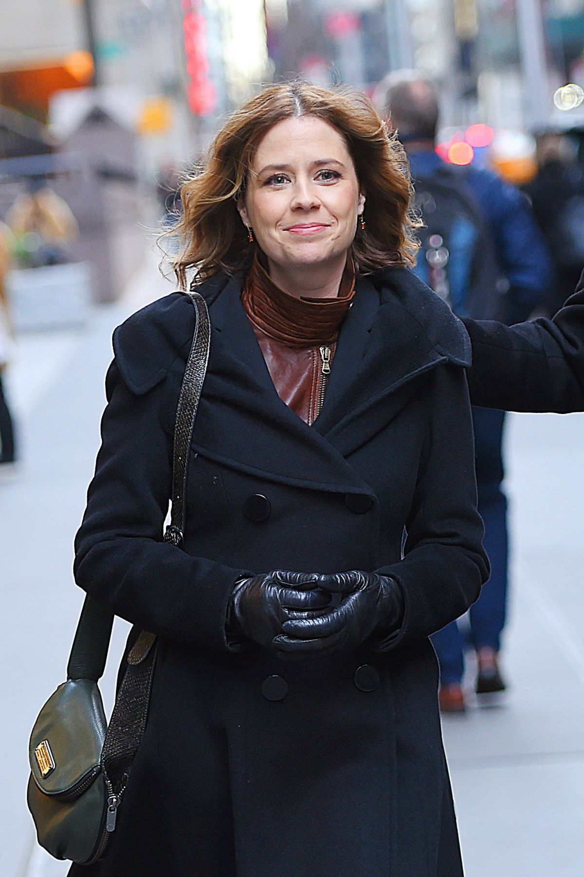 JENNA FISCHER Out and About in Manhattan 01/20/2016