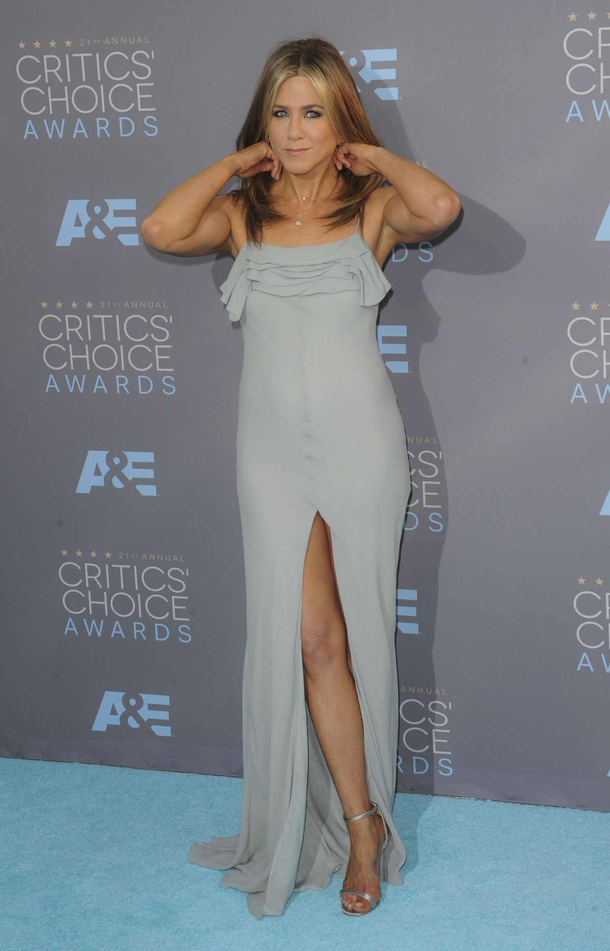 Jennifer Aniston in Saint Laurent at 2016 Critics Choice