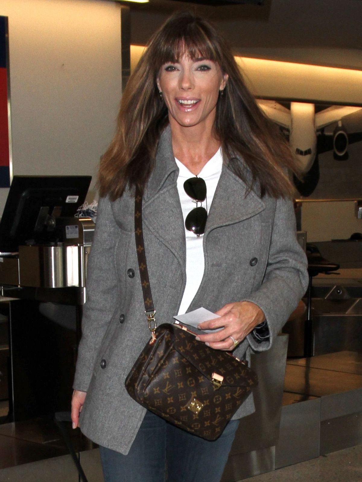 JENNIFER FLAVIN at LAX Airport in Los Angeles 01/14/2016