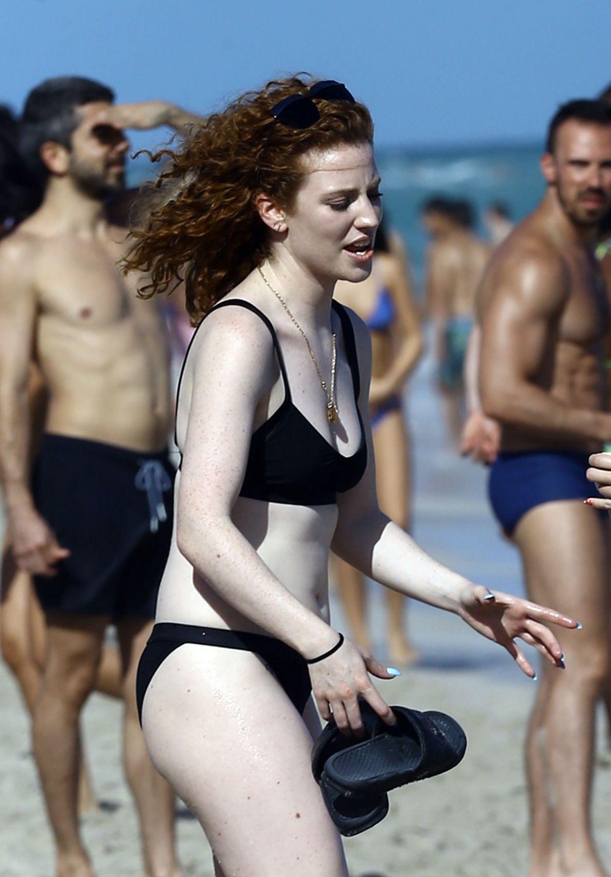JESS GLYNNE in Bikini at a Beach in Miami 12/31/2015