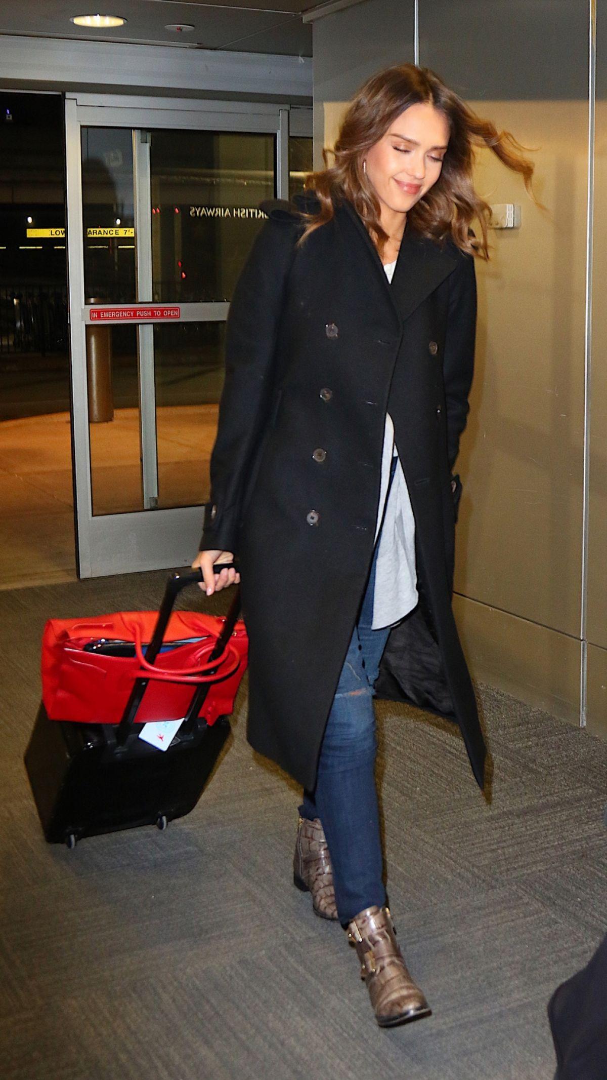 JESSICA ALBA at Los Angeles International Airport 01/27/2016