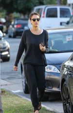 JESSICA ALBA Out in West Hollywood 01/30/2016