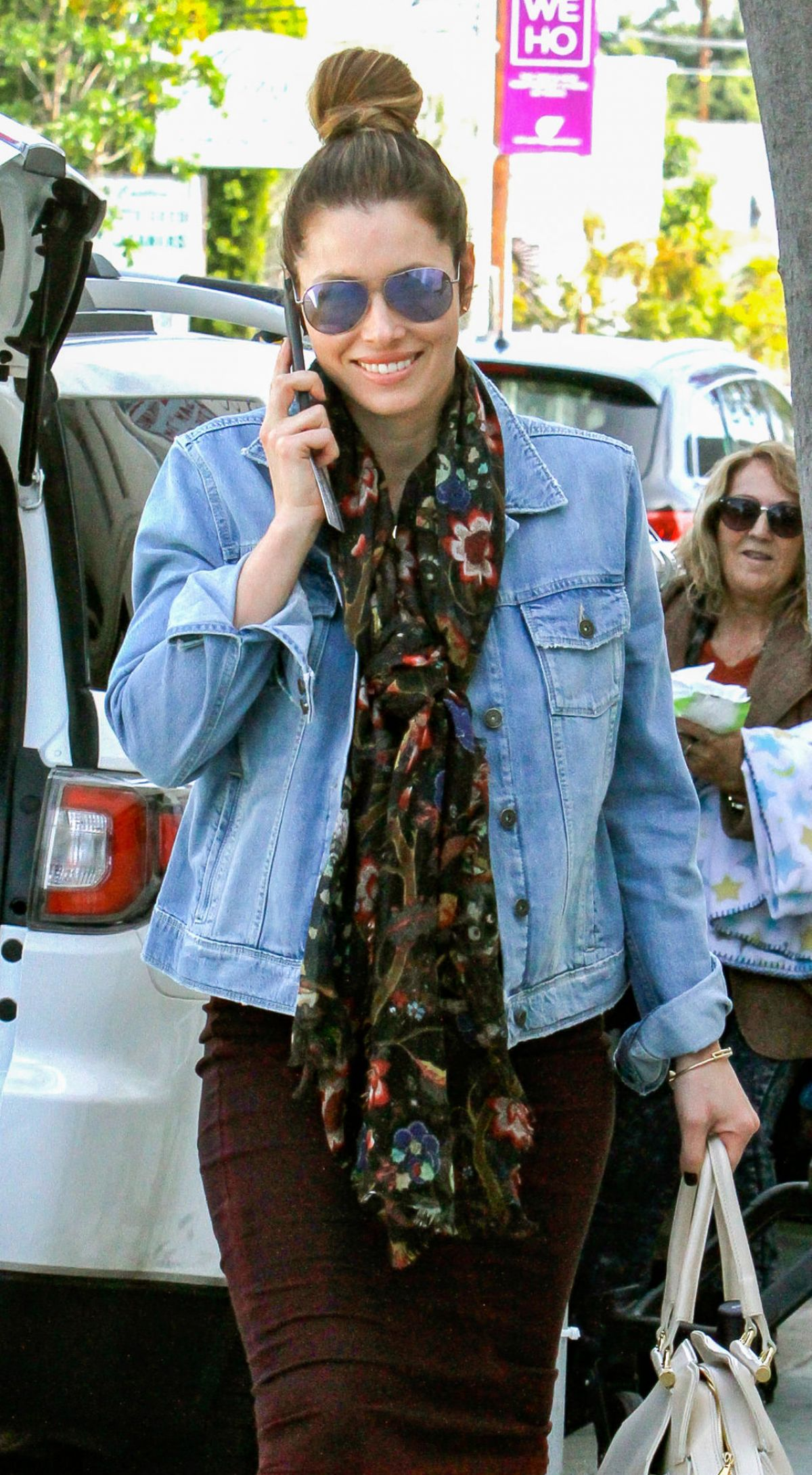 JESSICA BIEL and About Out in Los Angeles 01/15/2016